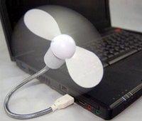 Computadoras portátiles para la venta Baratos-Mini ventilador del USB de la venta caliente que se refresca para los ordenadores de escritorio del ordenador portátil 2 ventiladores flexibles del adminículo del USB de las hojas envío libre LLFA