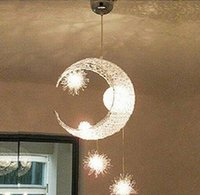 Wholesale Funny Modern Moon Star Aluminium Ceiling Light Bedroom balcony corridor Room Pendant Light With G4 Bulbs creative chandeliers