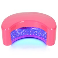 Wholesale 9W LED UV Gel Curing Lamp Moonlight Nail Curing Light With EU US AU Plug Nail Art Tool Pink Color E0269