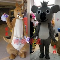 achat en gros de poupées kangourou-EMS Kangaroo koala doll clothing, Kangaroo koala animal Mascot Costume Fancy Dress Taille adulte
