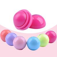 Wholesale 6 Colors D Lipstick New Makeup Round Ball Moisturizing lip balm Natural Plant Sphere lip Pomade Fruit Embellish lip Care