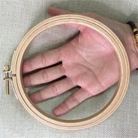 aluminum hoops - Dia12 cm Wooden Embroidery Hoops Hand DIY Cross Stitch Embroiderying Tool Household Sewing Tool Economical Kit