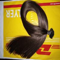 Extensions de cheveux pré-lissés à tête plate 1 Gram Strand Remy Cheveux de kératine humaine Extensions de cheveux à la soie soyeuse de 16 à 24 pouces 100 brins 100 g
