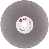 Rouleau de disque de broyage de diamant 125 mm Grit 600 de 5 pouces Rouleau de disque à revêtement plat Lapidary Tools pour les fraises à diamant