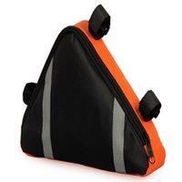 Wholesale Most Stable Panniers Front Tube Bags Triangle Tool Pearl Cloth PVC Cross Jacquard Orange Blue L23 W20 D6 cm