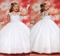 Wholesale White Hot Sale Dresses Girl Dresses For Weddings Girls Pageant First Communion Dresses For Prom Dress Girls HY1129