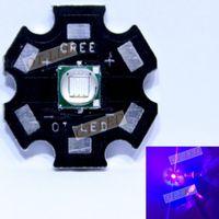 Wholesale Epileds XML W UV Purple NM NM Led Emitter Lamp Light V mA On MM MM PCB Cooper PCB Board