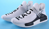 Wholesale with BOX New Human Race Pharrell Williams X NMD Sports Running Shoes discount Cheap top Athletic mens Outdoor Boost Training Sneaker