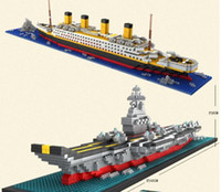 aircraft schools - Building Blocks aircraft carriers titanic ship model building blocks compatible school educational supplies toys YH528