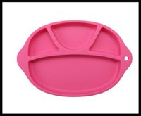 Wholesale healthy silicone disc for children Non slip design Baby Plcemat With Bowl FDA Silicone Happy Mat Happy Mat Silicone fast delivery by dhl