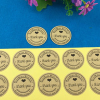 Wholesale cm Round Kraft Sticker Labels Thank You kraft sticker labels Sealing adhesive labels Custom Logo Cost Extra