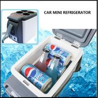 Wholesale Car Mini Fridge L Car Refrigerator ABS Mini Refrigerator Cooler And Heating Multi Function Portable Car Freezer free ship