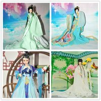Wholesale Chinese Ancient Costume Clothes for cm Jointed KURHN doll Handmade clothing for ob27 Bjd doll Dolls Accessories Girl Toys