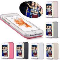 apple faces - iPhone7 Selfie Case LED Light Up Your Face Luminous For iphone s plus SE Samsung Galaxy S6 S7 edge