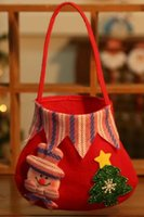 Wholesale Christmas gifts for children decorations high end gift bags Christmas Snowman handbag creative Candy Apple Bag
