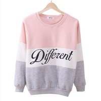Wholesale Fashion Letter Printed Women Pullover Tops Sweat Shirt Blouse Sweater Thick Tracksuits Sudaderas