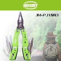 Wholesale 9 in Multitool Hiking Camping Tool Multifunctional Folding Tool Pliers Scaling Knife Slotted Cross Screwdriver Maintenance Tool