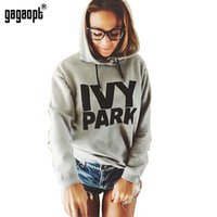 Wholesale Gagaopt AutumnWomen Hoodies IVY Park Letter Print Long sleeve Gray Hooded Sweatshirts Hoody Women Hoodies Baseball Jacket