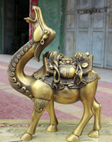 lion statue - bronze Decoration Pure Brass Good value Lucky quot Classic Chinese Pure Bronze Copper Foo Fu Dog Lion Head Statue Camel Llama