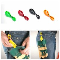 Wholesale Plastic Glove Clip Metal Detectable Protective Holder Safety Work Gloves Guard mm colors Christmas Gift OOA904