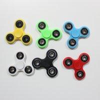 achat en gros de toys-2017 6 couleurs main Spinner Fidget roulements à billes en métal EDC Desk jouet Stress Reliever jouet amusant pour démangeaison Anxiety Finger Spinner Toys