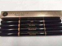 Wholesale New Arrivals Makeup Eyebrow Definer Liner Combination Skinny Brow Pencil Double ended with Brushes Ebony Medium Soft Dark Brown Colors