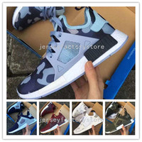 baby duck fabric - With Box Hot Sale NMD XR1 Men And Women Black White PINK Friday Duck Camo olive Baby Kids Children Sport Running Shoes Eur