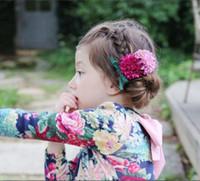 Baby Girls bande de cheveux grils petits accessoires chrysanthème 2017 filles de style coréen BOW accessoires de mode nouveaux enfants épingle douce T0669