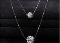 Wholesale Summer women solid Imitation platinum heart pendant Multi layer necklace hollow round alloy accessory Tassels chain fashion necklaces