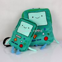 bag of toys book - New Adventure Time Plush BMO Beemo quot amp Plush Backpacks Green Book Bag For Children s Toys Gift Set Of