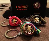 bear c - Turbo Key Chain LED USB colors LED Electric Torch Spinning Turbo Keychain Fans Favorite Sleeve Bearing Turbine Turbocharger Keyring Key C