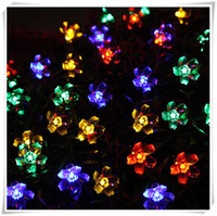 Wholesale LED solar energy product series cherry blossoms hanging lamp series outdoor waterproof solar lawn lamp