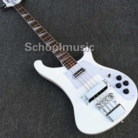 Wholesale Top quality New Arrival Ricken strings Electric Bass in white color Real photo show