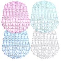 Wholesale Best Price x67cm Bathroom PVC Suction Anti Non Slip Cup Bath Shower Safety Safe Bathmat Floor Mat For Home Hotel Pub Color