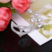 african masks materials - Fashion new alloy material Enamel Mask Brooch Pin Marvel Lapel Pin Brooch Rhinestone Scarf Pin Fashion Party Costume Brooch