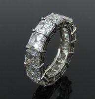 asscher cut diamonds - Fine ct Asscher Cut Diamond Platinum Hand Made Eternity Band