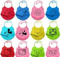 bib baby triangular scarf - The silicone baby bib waterproof scarf triangular bandage saliva pocket towel baby products