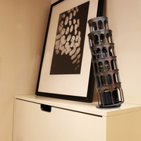 Wholesale TOOARTS The metal tower wine rack Wine rack with practical and beautiful appearance Practical ornament Handicraft A026