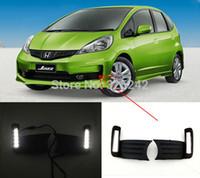 Wholesale For Honda Jazz Fit Excellent Quality Ultra bright LED fog light lamp Daytime Running Light led light DRL