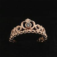 achat en gros de princesse charme pandora-2016 Nouvel anneau d'argent d'automne Bijoux Pandora européens Bijoux en or plaqué mon anneau de princesse avec anneau clair de charme de mode de Cz