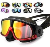 al por mayor grandes espejos lisos-Hombres y mujeres gafas de natación de adultos de alta definición anti - niebla marco de chapado llano espejo impermeable gafas de natación polarizada