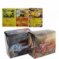 Wholesale DHL Poke Go Trading Card Games English Words Pocket Monsters Cards set Anime XY Box Kids Toys