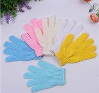 Wholesale Hot Sale of New Arrival Exfoliating Bath Glove Five fingers Bath Gloves Colorful Colors F16121452