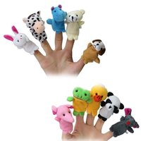 Wholesale Finger Puppet Chinese Zodiac ToysCartoon Plush Toys Dolls Child Baby Favor Finger Doll Animal Puppets