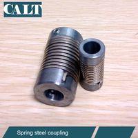 bellows suppliers - 6 mm Shaft Steel High torque pipe coupler P F Flexible Spring Bellow Shaft Coupling supplier