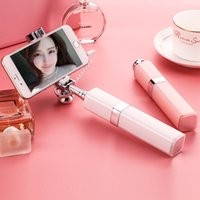 Wholesale Highlight lacque Lipstick Selfie Monopod stick for iPhone and phone blow inches