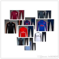 Wholesale Thai quality Real European Cup Real Madrid black long sleeved training clothes