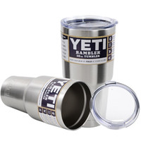 Wholesale Yeti oz oz Cups Cooler YETI Rambler Tumbler Travel Vehicle Beer Mug Double Wall Bilayer Vacuum Insulated free ship