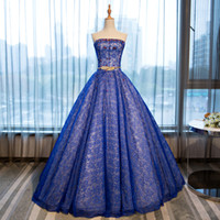 100%real luxury royal blue lace flower beading Medieval dress Renaissance  gown Sissi royal princess dress Victoria dress Belle Ball b257de3259de