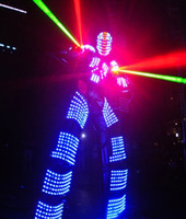 Wholesale 2016 LED Luminous Clothing Light suits Kryoman robot Bar KTV LED Robot suits david guetta robot LED Costume color customized